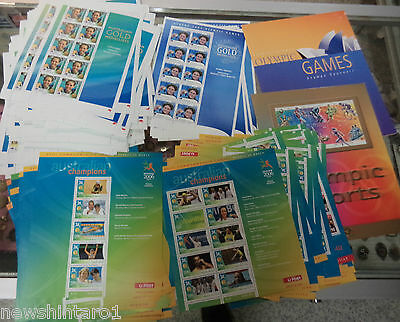 #bb. Bulk Lot Of Olympic, Commonwealth Games Stamps - Unused, About $895 Face