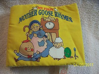 My First Mother Goose Rhymes Cloth Soft Book NURSERY - BABY - rattle - pictures