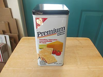 1985 Nabisco Premium Saltine Crackers Tin