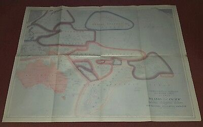The National Geographic Society Map Islands Of The Pacific 1921 Vintage