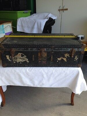 Antique Vintage Steamer? Trunk - Mendel Tourist   Great Shape.
