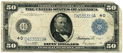 Genuine Series 1914 $50 Federal Reserve Note | Cleveland, OH | US Grant