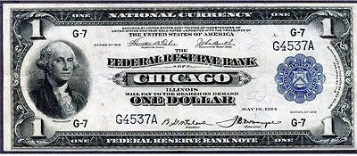 1918 $1 Green Eagle ((3rd LOWEST Serial# Known)) AWESOME GRADE