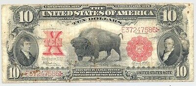 $10 1901 Bison United States nice looking and bright colors