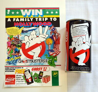 1989 Australian BP Gas Coca-Cola GHOSTBUSTERS Contest Ad with Air-filled CAN