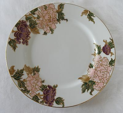 Fitz & Floyd WHITE CLOISONNE PEONY Lot of 4 Dinner Plates