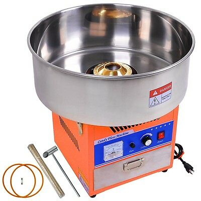 New Electric Cotton Candy Machine Orange Floss Carnival Commercial Maker Party