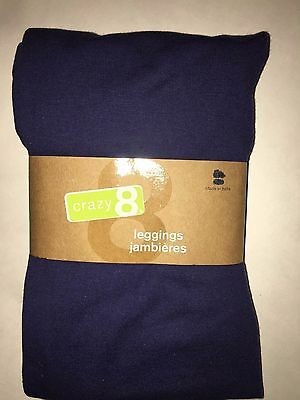CRAZY 8  NWT 14  GIRLS SOLID NAVY BLUE LEGGINGS X- LARGE 14 new
