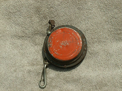 Vintage Loggers Tape Metal Measure Unknown MAnufacture Used Condition Parts or ?
