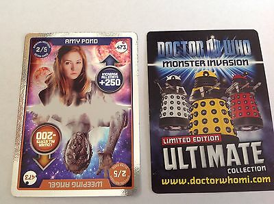Dr Who - 2/5 Special Edition Ultra Rare 473 Amy Pond / Weeping Angel - in VGC