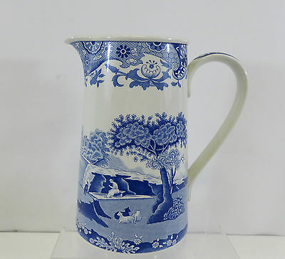 "Spode Blue & White Coloured Patterned Jug 6.8"" High"