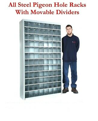 Heavy Duty Steel Pigeon Hole Parts Storage Shelving Racking - Removable Dividers