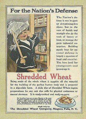 For the Nation's Defense Shredded Wheat ad 1916