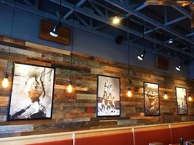 40 sq ft RECLAIMED WALL BOARD mixed species BARN LUMBER WOOD (COVERS 8' x 5').,