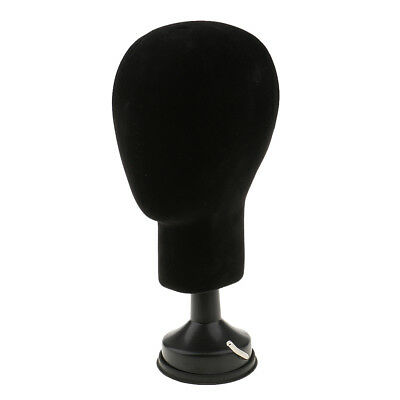 Black Styrofoam Unisex Hat Holder Foam Mannequin Head Stand Wig Hair Display
