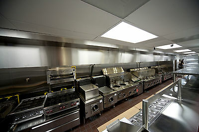 Ventilation Direct10 ft Restaurant Hood System w/ Exhaust & Heated Make Up Air
