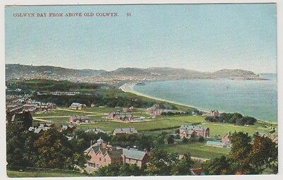 Wales postcard - Colwyn Bay from above Old Colwyn