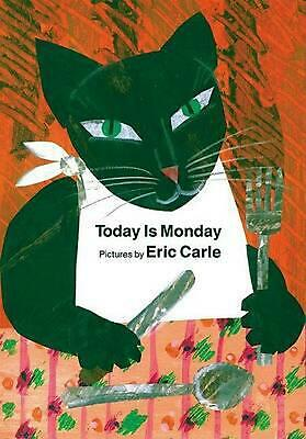 Today is Monday by Eric Carle (English) Board Books Book Free Shipping!