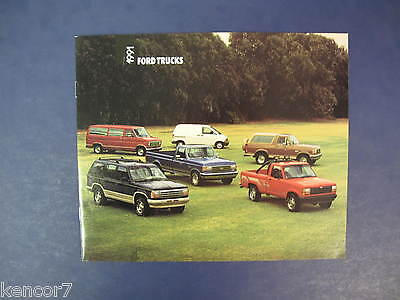 1991 Ford Trucks Full Line Sales Brochure D6409