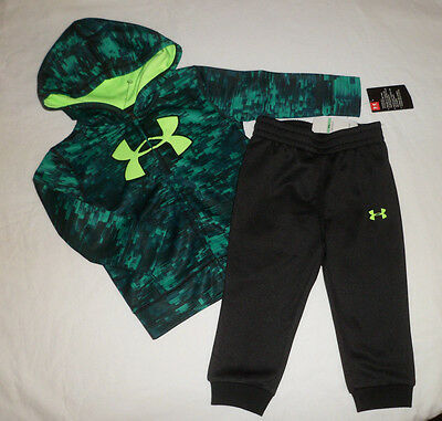 NWT Under Armour Baby Boys Hoodie Pants Outfit 2 Pc Set Clothes Sz 12m 12 Months