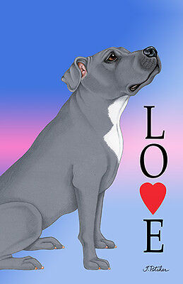 Large Indoor/Outdoor Love (TP) Flag - Blue Pit Bull Terrier 60500