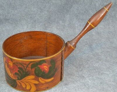 wooden dry measure handle bucket  Shaker copper tack primitive antique original