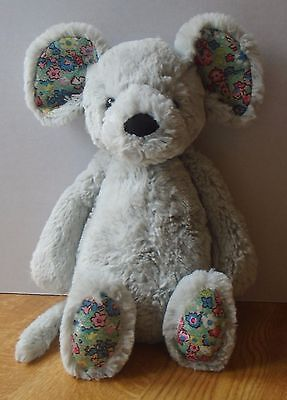 Jellycat Grey Blossom Mouse With Flower Pattern Comforter Plush/soft Toy