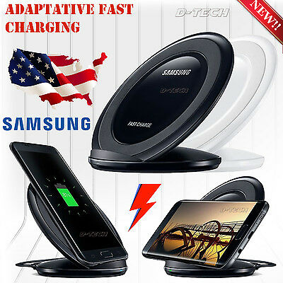 FAST CHARGING Qi WIRELESS charger DOCK STAND PAD For Samsung S7/S6 W/Cable