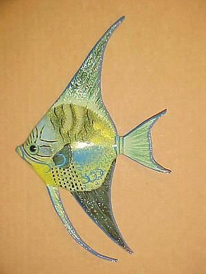 "9"" ANGELFISH Wall Decor Bath Beach Office Tropical Fish Ocean Aquarium Nautical"
