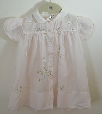 Priceless Vintage Madeira Embroidered Baby Dress With Padded Embroidery Ss755