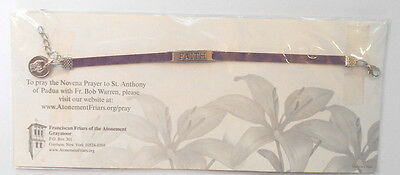 St Anthony of Miracles Medal FAITH Bracelet NEW in package with prayer card