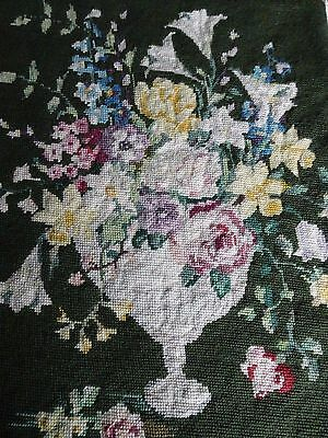 Vintage Completed Penelope Tapestry Needlepoint Woolwork Cushion Picture