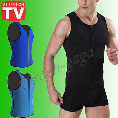 6dd4877d6c US Thermo Sweat Neoprene Body Shaper Slimming Waist Trainer Cincher Suit  Man s