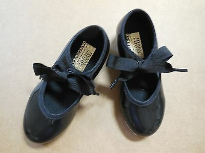 New WITHOUT BOX Tap Shoes child sizes Tapette  Black Patent Leather Tap Dance