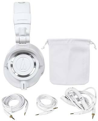 Audio Technica ATH-M50XWH Over Ear Professional Studio Monitor White Headphones