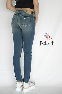 Pantalone ARMANI JEANS donna pantaloni jeans skinny PUSH UP pants ORIGINALE new