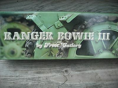 New In Box With Cellophane Frost Cutlery Ranger Bowie Iii Custom Made Knife