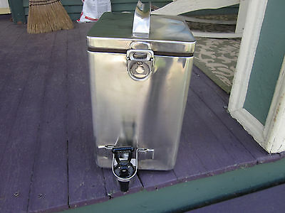 Vintage Tomlinson Stainless Beverage Dispenser 2 gal Hot Cold Commercial Coffee