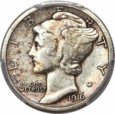 1916-D Mercury Dime SLABBED and Certified!! PCGS XF40 Silver 10-Cents