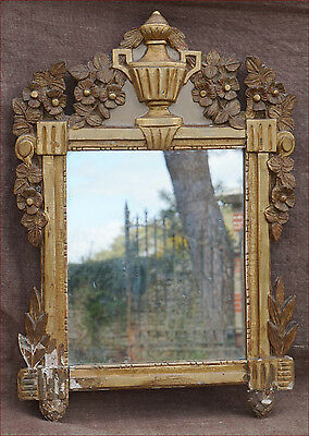 Antique Louis XVI period Gold Hand Carved Wooden Mirror Frame 18th C