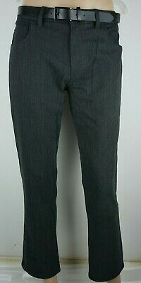 Men`s New Zara Cropped Linen Trousers Size 30-31-32-34-36-38 Casual Summer Pants