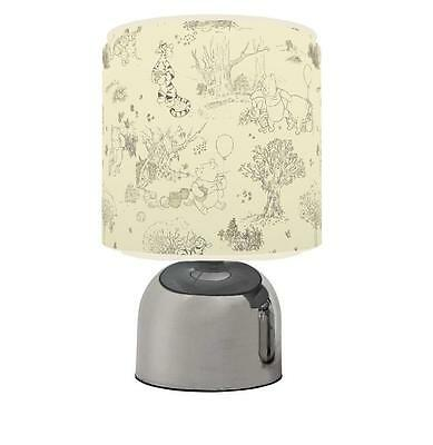 Classic Winnie The Pooh Beige Touch Table Bedside Lamp Kids Room Brand New