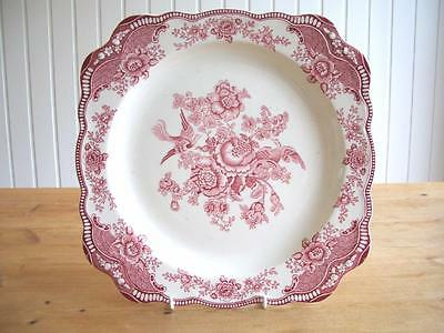 """Crown Ducal Pink Bristol Square 11.5"""" Plate"""