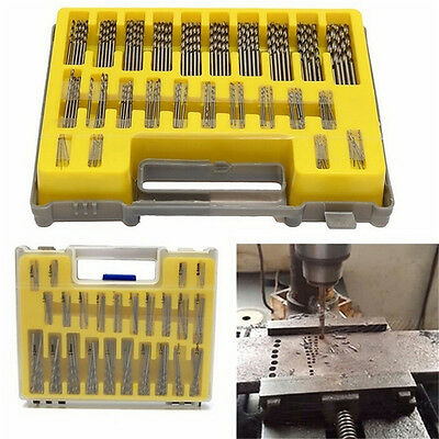 150Pcs 0.4mm-3.2mm Mini Micro Power Twist Drill Bit Set Mini Small Precision HSS