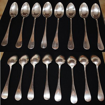 Couverts argenterie lot 8 cuilleres de table en argent  673 gr