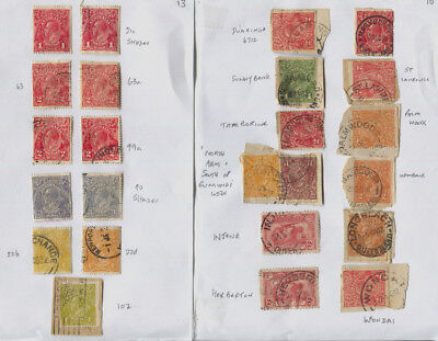 Australia Mostly GV Heads on 6 Pages, Great Postmarks, Unsorted, Unchecked £175+