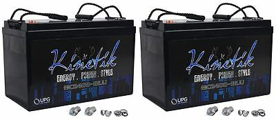 (2) New Kinetik HC2400-BLU Car Power Cell/Batteries High Current KHC2400