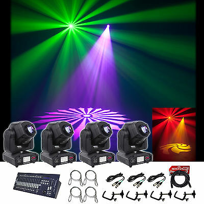 (4) American DJ INNOSPOT LED Light +DMX Controller +Clamps +Security +Cables