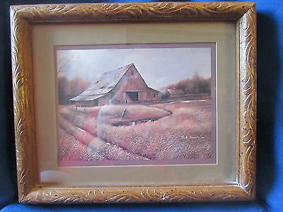 Framed Picture/print...old Weathered Barn...ruane Manning 82...ex Cond!!
