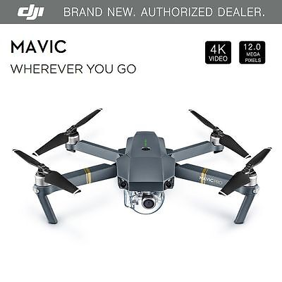 New DJI MAVIC PRO w 12MP 4K Stabilize Camera, Active Track, Avoidance, GPS, WiFi